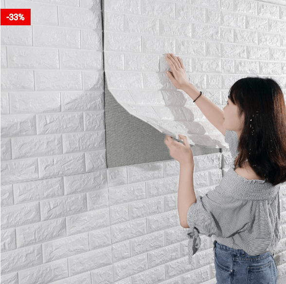 Popular 3D Brick Wallpaper Wall Stickers
